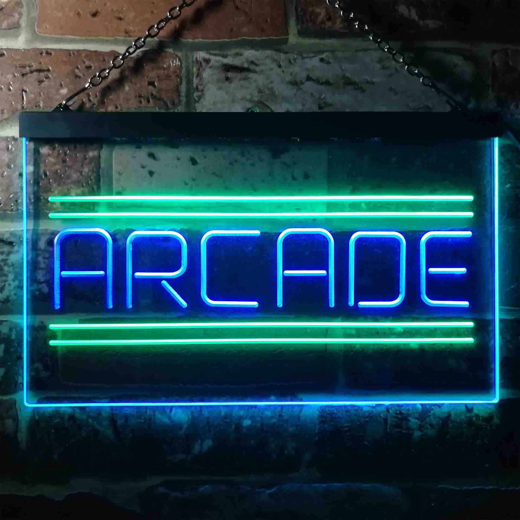 Arcade Game Zone Two Colors LED Home Bar Sign (Three Sizes) LED Signs - The Beer Lodge