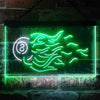 8 Ball Fire Billiards Rack Two Colors LED Home Bar Sign (Three Sizes) LED Signs - The Beer Lodge