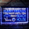 Never Know How Many Friends Beach House Two Colors LED Home Bar Sign (Three Sizes) LED Signs - The Beer Lodge