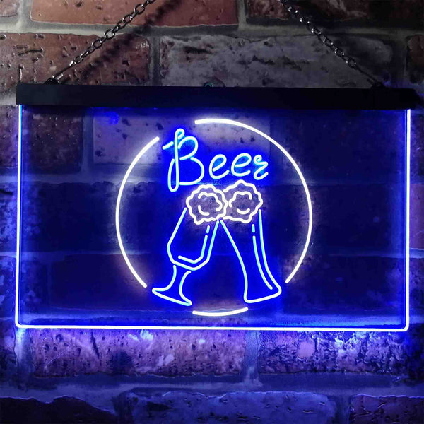 Bar Cheers Beer Two Colors LED Home Bar Sign (Three Sizes)