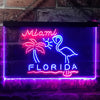 Miami Florida Sunshine Flamingo Two Colors LED Home Bar Sign (Three Sizes) LED Signs - The Beer Lodge