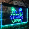 Paradise Lounge Parrot Two Colors LED Home Bar Sign (Three Sizes) LED Signs - The Beer Lodge