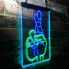 Crossed Fingers For Good Luck Two Color LED Sign (Three Sizes)