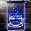 Coffee Time Cup Shop Café Two Color LED Sign (Three Sizes)