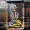 Sexy Girl Thinking Bedroom Man Cave Two Color LED Sign (Three Sizes)