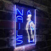 Nail Hand Hold Flowers Beauty Salon Two Color LED Sign (Three Sizes)