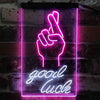 Good Luck Hand Two Color LED Sign (Three Sizes)