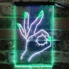 Okay Nails Beauty Salon Two Colors LED Sign  (Three Sizes)