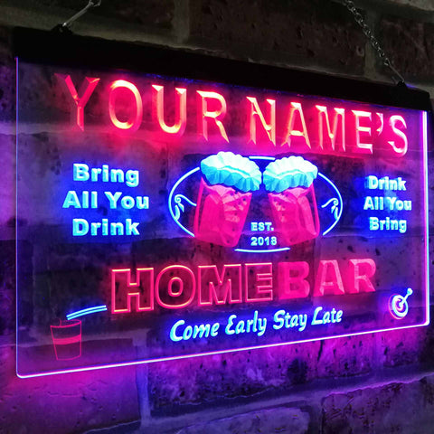 Personalized Beer Mug Two Colors LED Home Bar Sign (Three Sizes) LED Signs - The Beer Lodge