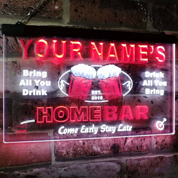 Personalized Beer Mug Two Colors LED Home Bar Sign (Two Sizes) LED Signs - The Beer Lodge