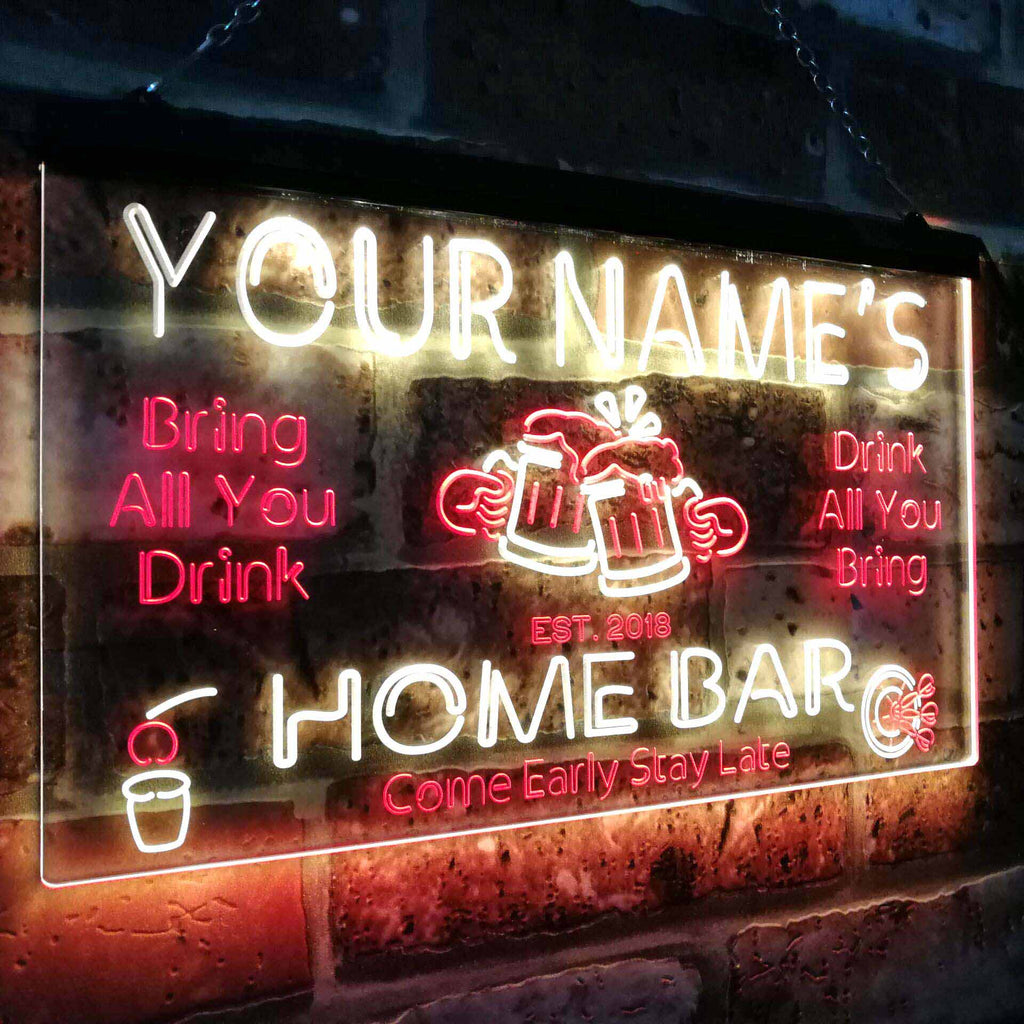 Personalized Beer Mug Two Colors Home Bar LED Sign (Three Sizes) LED Signs - The Beer Lodge