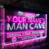 Personalized Man Cave Two Colors Home Bar LED Sign (Three Sizes) LED Signs - The Beer Lodge