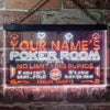 Personalized Poker Room Two Colors LED Sign (Three Sizes) LED Signs - The Beer Lodge
