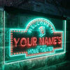 Personalized Home Theater Two Colors Home Bar LED Sign (Three Sizes) LED Signs - The Beer Lodge