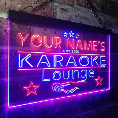 Personalized Karaoke Lounge Two Colors Home Bar LED Sign (Three Sizes)
