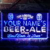 Personalized Beer-Ale Two Colors New Home Bar LED Sign (Three Sizes) LED Signs - The Beer Lodge