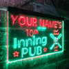 Personalized Inning Pub Two Colors Home Bar LED Sign (Three Sizes) LED Signs - The Beer Lodge