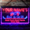 Personalized New Bar & Grill Two Colors Home Bar LED Sign (Three Sizes) LED Signs - The Beer Lodge