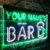 Personalized Bar Two Colors Home Bar LED Sign (Three Sizes) LED Signs - The Beer Lodge
