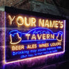Personalized Tavern Two Colors Home Bar LED Sign (Three Sizes) LED Signs - The Beer Lodge
