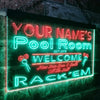 Personalized Pool Room Two Colors Home Bar LED Sign (Three Sizes) LED Signs - The Beer Lodge