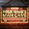 Personalized Man Cave Football Two Colors Home Bar LED Sign (Three Sizes) LED Signs - The Beer Lodge
