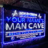 Personalized Man Cave Basketball Two Colors Home Bar LED Sign (Three Sizes) LED Signs - The Beer Lodge