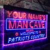 Personalized Man Cave - Hockey Two Colors LED Sign (Three Sizes) LED Signs - The Beer Lodge