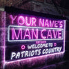 Personalized Man Cave Welcome to Patriots Country Two Colors LED Sign (Three Sizes) LED Signs - The Beer Lodge