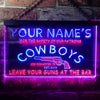 Personalized Cowboys Two Colors LED Sign (Three Sizes) LED Signs - The Beer Lodge