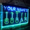 Personalized Guitar Icons Two Colors LED Sign (Three Sizes) LED Signs - The Beer Lodge