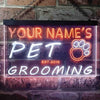 Personalized Pet Grooming Two Colors LED Sign (Three Sizes) LED Signs - The Beer Lodge