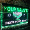 Personalized Beer Pong Cave Two Colors LED Sign (Three Sizes) LED Signs - The Beer Lodge