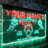 Personalized Hockey Penalty Box Bar Two Colors LED Sign (Three Sizes) LED Signs - The Beer Lodge