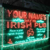 Personalized Traditional Irish Pub Two Colors LED Sign (Three Sizes) LED Signs - The Beer Lodge