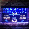 Personalized Wine Cave Two Colors LED Sign (Three Sizes) LED Signs - The Beer Lodge