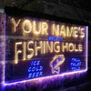 Personalized Fly Fishing Hole Den Bar Beer Gift Two Colors LED Sign (Three Sizes) LED Signs - The Beer Lodge