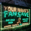 Personalized Fan Cave - Baseball Two Colors LED Sign (Three Sizes) LED Signs - The Beer Lodge