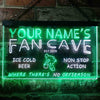 Personalized Fan Cave - Basketball Two Colors LED Sign (Three Sizes) LED Signs - The Beer Lodge