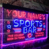 Personalized Sports Bar Two Colors LED Sign (Three Sizes)