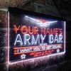 Personalized Army Bar Two Colors LED Sign (Three Sizes)