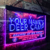 Personalized Deer Camp Two Colors LED Sign (Three Sizes)