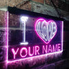 Personalized I Love Two Colors LED Sign (Three Sizes)