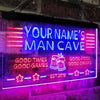 Personalized Beer Mug Two Colors Man Cave LED Sign (Three Sizes) LED Signs - The Beer Lodge