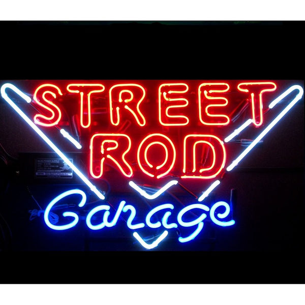 Street Rod Garage Neon Home Bar Sign Neon Sign - The Beer Lodge