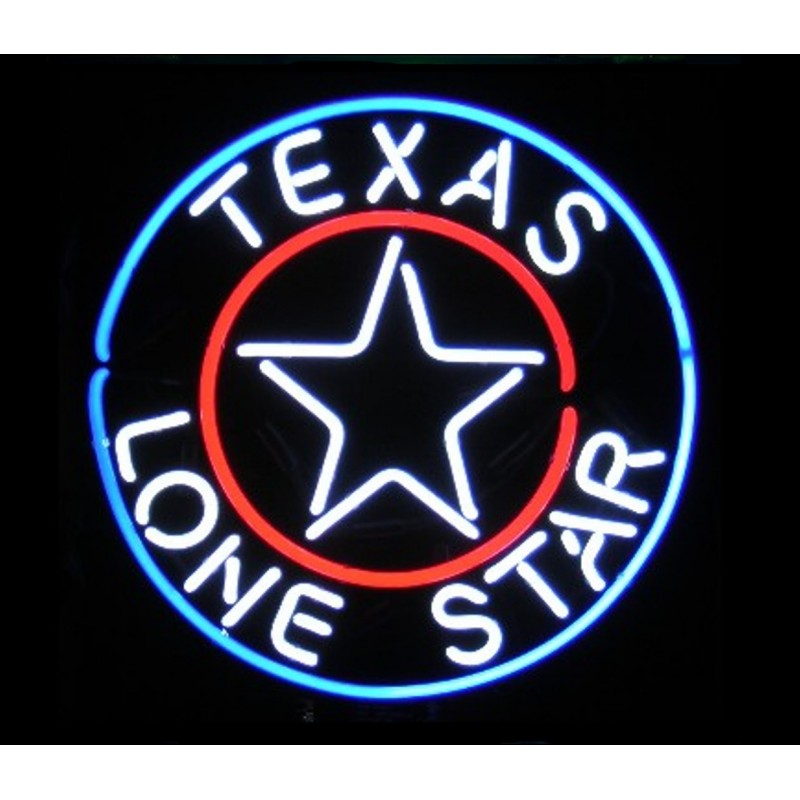 Texas Lone Star Neon Home Bar Sign Neon Sign - The Beer Lodge