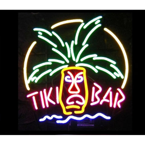 Tiki Bar Mask Neon Home Bar Sign Neon Sign - The Beer Lodge