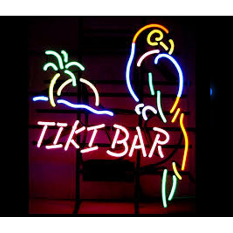 Tiki Bar Parrot Neon Home Bar Sign Neon Sign - The Beer Lodge