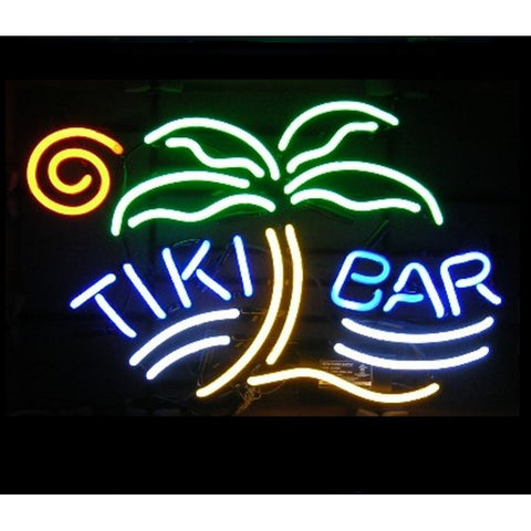 Tiki Bar Palm Neon Home Bar Sign Neon Sign - The Beer Lodge