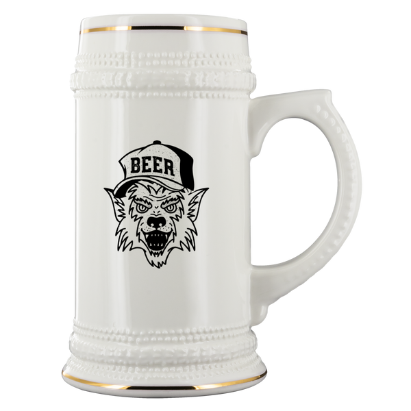 Werewolf Beer Hat 22oz Beer Stein Drinkware - The Beer Lodge